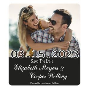 "Save The Date Rectangle Magnets (3 1/2""x4"")"