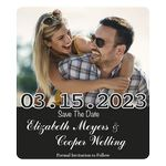 Custom Save The Date Rectangle Magnets (3 1/2