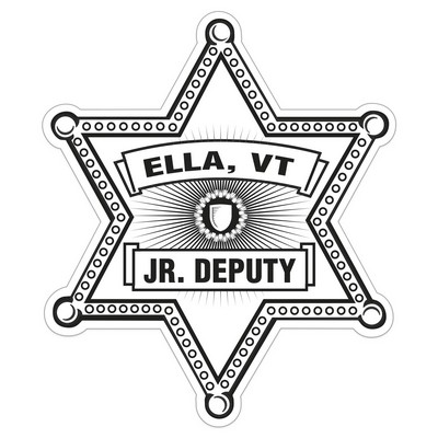 Sheriff Star Paper Lapel Sticker On Roll