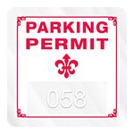 Custom Square Clear Polyester Inside Parking Permit Decal (1 3/4