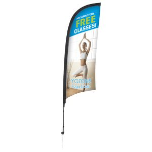 Promotional Premium Feather Flag w/ 9 Spike Base