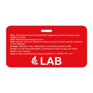 "Rectangle Vinyl Plastic 0.02"" Thick Horizontal Badge (2 1/8""x4 3/8"")"