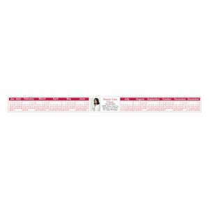 "Horizontal Keyboard/ Monitor Full Color Calendar (1 1/8""x13 1/2"")"