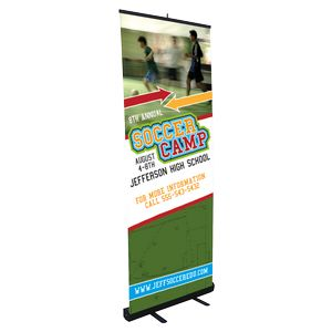 Medium Retractable Stand w/ Banner