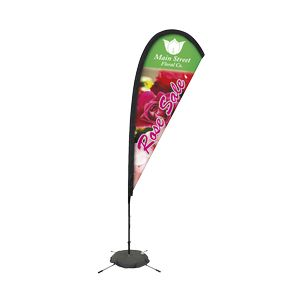 Promotional Premium Tear Drop Flag w/ 8 Scissor Base