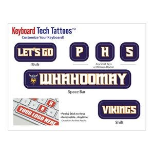 Keyboard Tech Tattoos™ Blue Recycle Sticker Roll