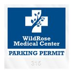 Custom Square Clear Inside Parking Permit Decal (3