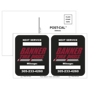 Post-Cals® Postcard w/ 2 White Vinyl Rounded Corner Adhesive Decals