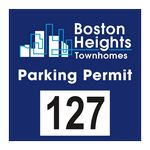 Custom Square White Vinyl Outside Parking Permit Decal (3