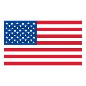 White Vinyl U.S. Flag Removable Adhesive Decal Blue Recycling Sticker Carefree