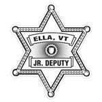 Custom Sheriff Star Paper Lapel Sticker On Roll