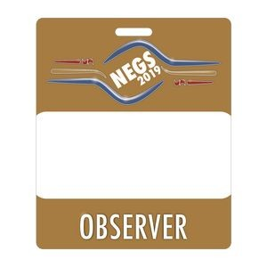 "Full Color Rectangle Plastic 0.03"" Thick Vertical Badge (3 3/8""x4"")"