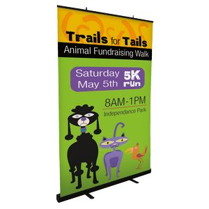 Jumbo Retractable Stand w/ Banner w/ Banner
