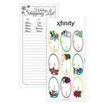 Custom White Paper Christmas Holiday Sticker Sheet w/ Oval Label
