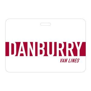 "Jumbo Rectangle Vinyl Plastic 0.02"" Thick Horizontal Badge (3""x4 1/2"")"