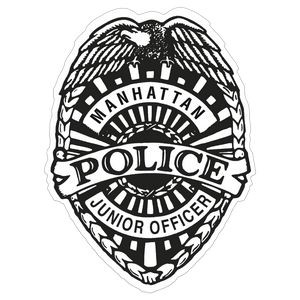 Police Badge Paper Lapel Sticker On Roll