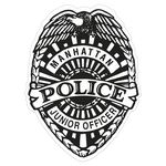 Custom Police Badge Paper Lapel Sticker On Roll