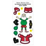 Custom Peel N Play Christmas Sticker Sheet (Santa Claus & Clothing)