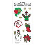 Custom White Paper Christmas Holiday Sticker Sheet (Snowman/ Snow Angel)