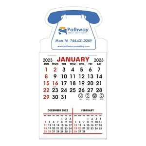 Stick It Magnet 3 Month Calendar Pads - Telephone