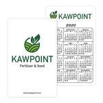 Custom White Vinyl Plastic Vertical Calendar Card w/ Lined Blocks (0.030