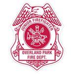 Custom Firefighter Shield Paper Lapel Sticker On Roll