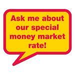 Custom Rectangle Conversation Bubble Stock Satin Lapel Sticker