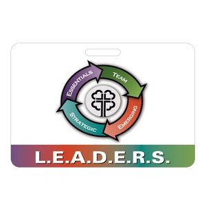 "Full Color Jumbo Rectangle Vinyl Plastic 0.030"" Thick Horizontal Badge (3 3/8""x5"")"