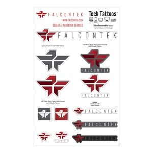 Tech Tattoos Decal / Custom Shapes Blue Recycling Sticker Carefree