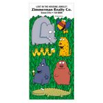 Custom Charlie Cartoon Sticker Sheet w/ Wild Animals