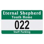 Custom Rectangle Vinyl Outside Parking Permit Decal (2 3/4