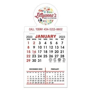 Stick It Decal 3 Month Calendar Pads - Round w/ Bottom Strip