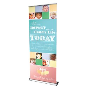 Indoor Telescoping Retractor Premium Banner Stand w/ Banner