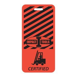 "Rectangle Vinyl Plastic 0.03"" Thick Vertical Badge (2 1/8""x4 3/8"")"