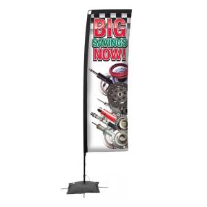 Promotional Rectangle Flag w/ 10 Spike Base