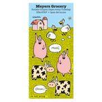 Custom Charlie Cartoon Sticker Sheet w/ Farm Animals
