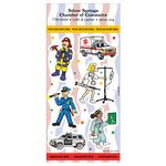 Custom Police & Emergency Fun & Fantasy Sticker Sheet
