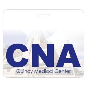 "Full Color Rectangle Plastic 0.03"" Thick Horizontal Badge (3 3/8""x4"")"