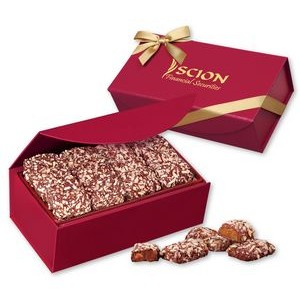 English Butter Toffee in Scarlet Magnetic Closure Gift Box