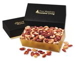 Custom Deluxe Mixed Nuts in Black & Gold Gift Box