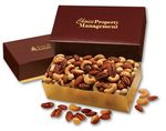 Custom Deluxe Mixed Nuts in Burgundy & Gold Gift Box