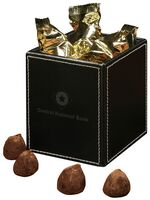 364154093-117 - Faux Leather Pen & Pencil Cup with Cocoa Dusted Truffles - thumbnail