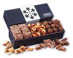 Custom Snowflake Wrapped Box of Holiday Treats
