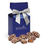 Custom English Butter Toffee in Metallic Blue Gift Box