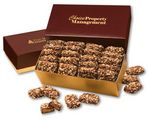 Custom English Butter Toffee in Burgundy & Gold Gift Box