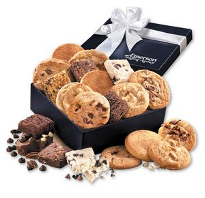 Gourmet Cookie & Brownie Assortment in Navy Gift Box