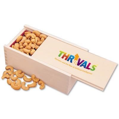 Extra Fancy Jumbo Cashews in Wooden Collector's Box (4 Color Process)