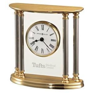Howard Miller New Orleans Solid Brass Clock w/ 4 Silver Columns