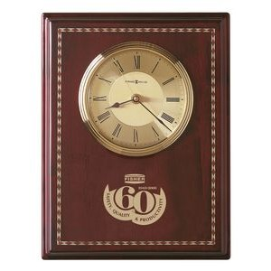 Howard Miller Honor Time II Award Clock Plaque w/ Inlaid Marquetry