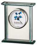 Custom Howard Miller Cooper Rectangle Glass Corporate Gift Clock (Full Color Dial)
